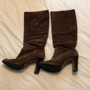 Brown suede Banana Republic boots
